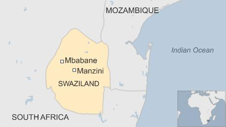 Map of Swaziland