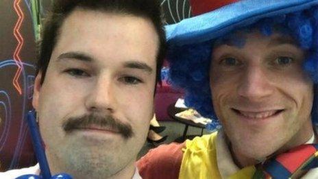 Josh and Joe the Clown