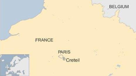 France map showing Creteil
