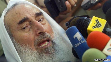 Hamas spiritual leader Sheikh Ahmed Yassin