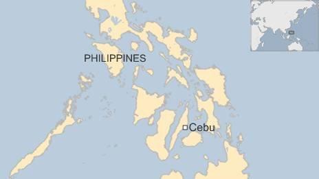 Map of Cebu, Philippines