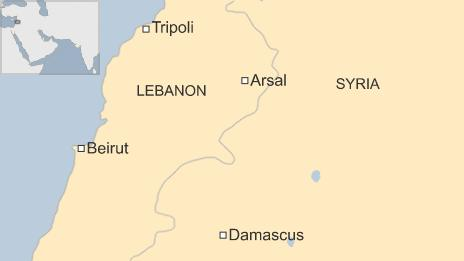 Map of Lebanon and Syria