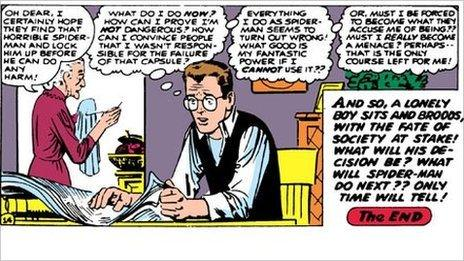 Panel from a Spider-Man comic (Image courtesy Marvel Entertainment)
