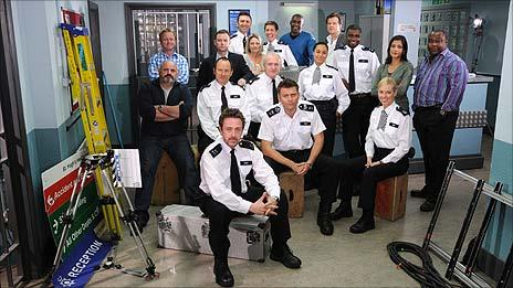 The cast of The Bill