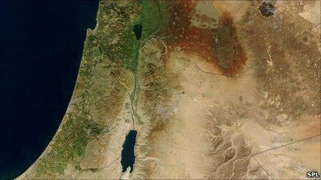 Satellite image of Eastern Medditerranaen