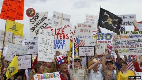 Tea Party protesters in Arizona