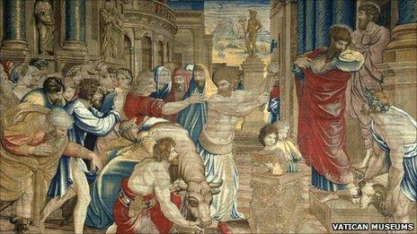 Raphael's The Sacrifice at Lystra