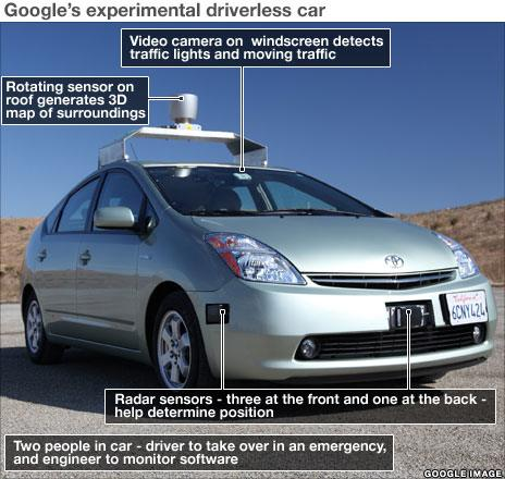 Annotate image of google car