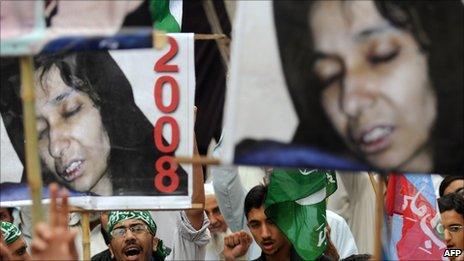 Protest for Aafia Siddiqi in Pakistan 2010