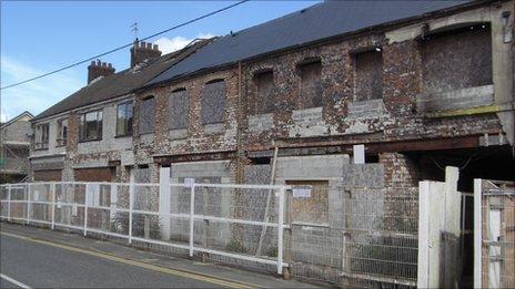 The derelict homes in Cwmamman Road in Garnant