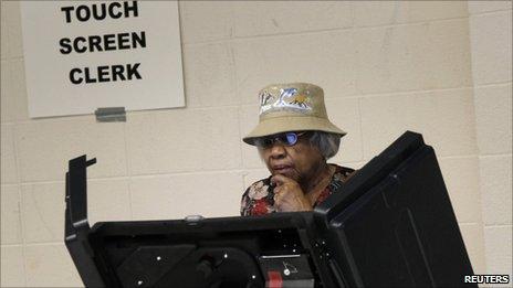 Voter in Washington DC