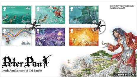 Guernsey Post's Peter Pan stamps