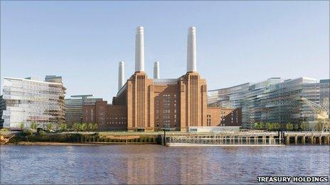 Artist's impression of the revamped Battersea Power Station