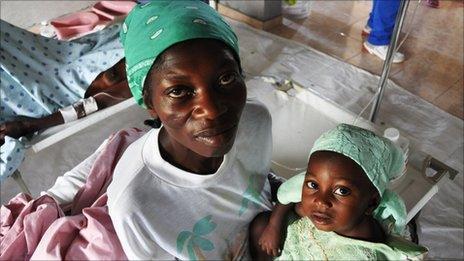 Patients at the Samaritan's Purse aid station