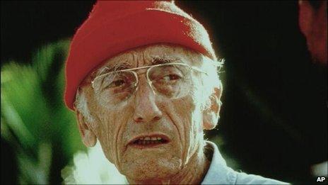 File photograph of Jacques Cousteau