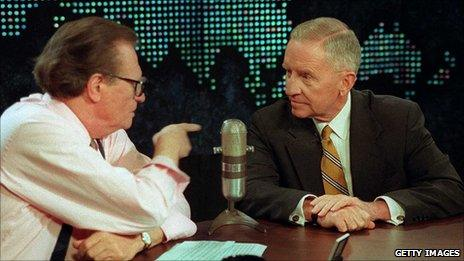 File photograph of Larry King with Ross Perot