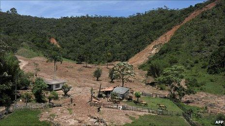 Farm near Nova Friburgo on 21 January, 2011