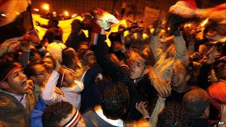Celebrations in Tahrir Square, Cairo
