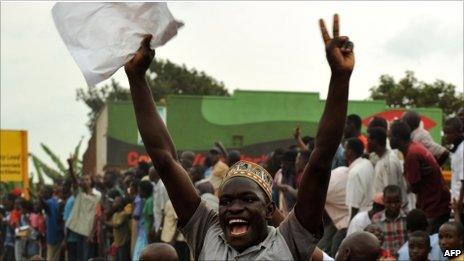 Supporter of Kizza Besigye