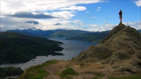 Loch Katrine, in the Loch Lomond and the Trossachs National Park