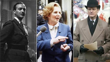 David Niven, Margaret Thatcher, Colin Firth
