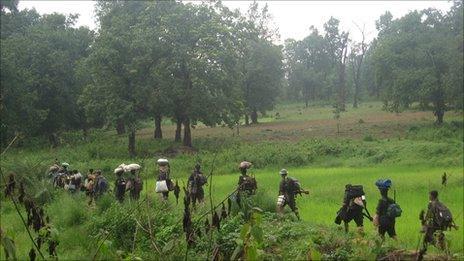 Maoists on the move