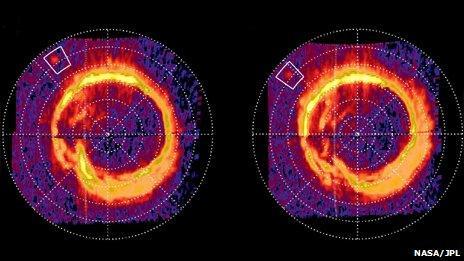 Saturn's northern aurorae (NASA/JPL/University of Colorado/Central Arizona College)