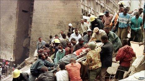 Aftermath of 1998 Nairobi bombing