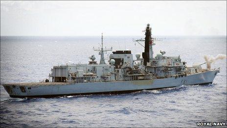 HMS Sutherland. Pic: Royal Navy