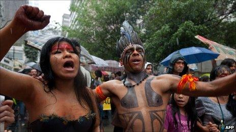 Protesters in Sao Paulo on 20 August 2011