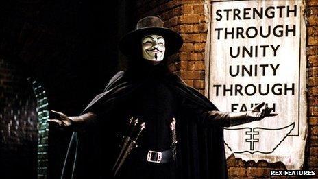 Still from the film V for Vendetta