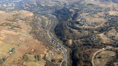 Yr A465 rhwng Gilwern a Brynmawr