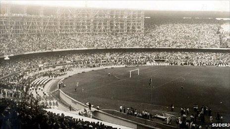 Inaugural game at the Maracana in 1950. Photo: Suderj