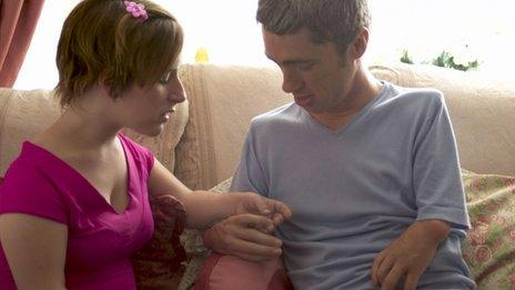 Thalidomide-affected man