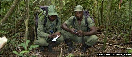 Rangers at a bird park in Sierra Leone (2011)