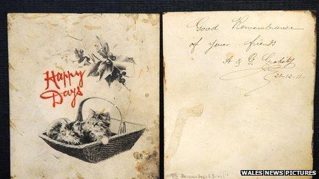Carden Nadolig 1911
