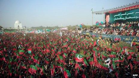 Imran Khan rally in Karachi, 25 December