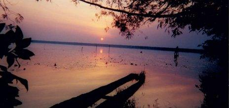 Sunset at Lake Tele. Photo: Adam Davies