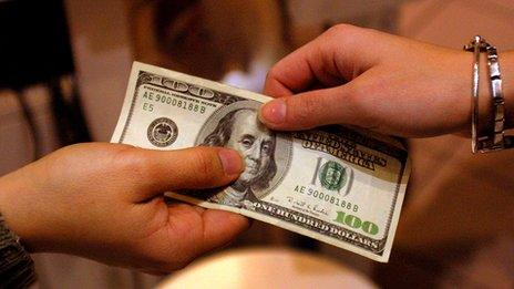 Exchanging $100 bill