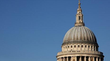 The dome of St Paul's Cathedral