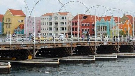 Willemstad - the capital of Curacao