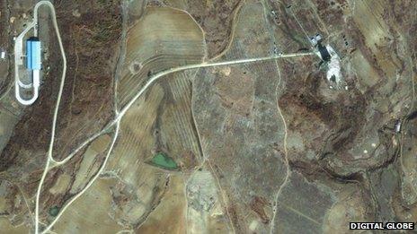 Satellite view of North Korean missile launch site at Musudan-Ri (file photo from 2009/Digital Globe)