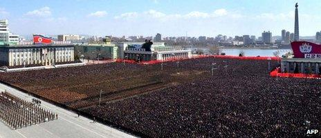 A 25 March service in Pyongyang to mark the 100th day since the death of Dear Leader Kim Jong-il