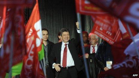 Jean-Luc Melenchon in Toulouse (5 April 2012)