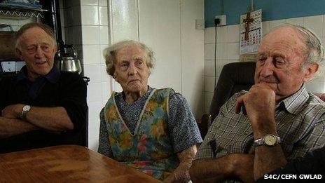 Elwyn, Nancy and Ceredig Williams