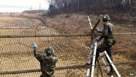 The Demilitarised Zone in South Korea