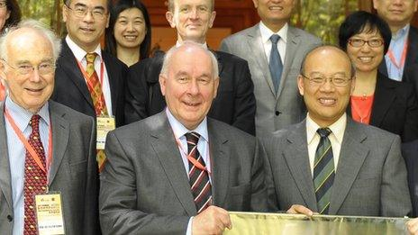Officials from Cardiff, Peking and Capital Medical Universities