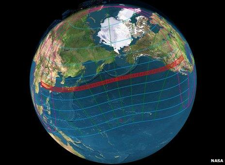 Path of the 2012 annular eclipse