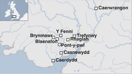 Map o'r daith