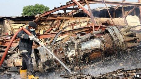 Plane crash Lagos